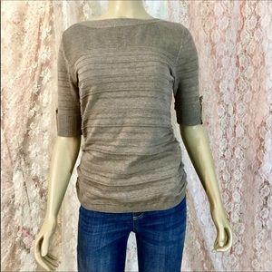 🛍NWT🛍apt.9 shadow stripe runched sweater